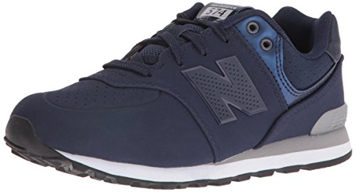 New Balance Grade School Schuhe, 37.5 EUR, Navy/Grey (Big School Kids Sneakers)