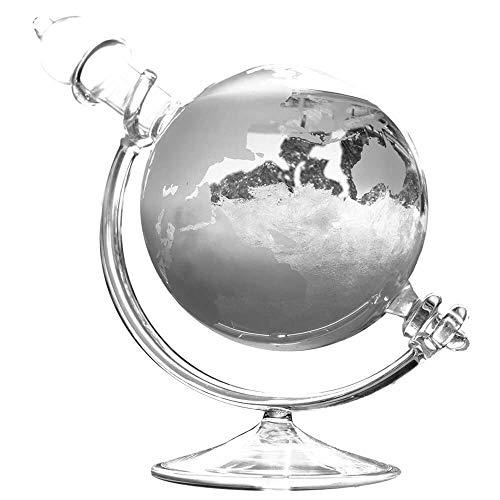 Monsterzeug Sturmglas Globus, Kristalle, Wasser, Luftdruck, Wetterstation, Barometer, Storm Glass, Globus, Transparent -