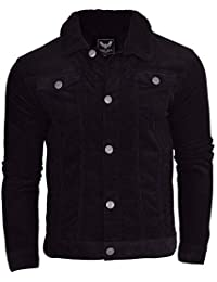 c044593dae4 Brave Soul Mens Sherpa Borg Collar Cotton Corded Cord Trucker Jacket Coat  Indie Mod
