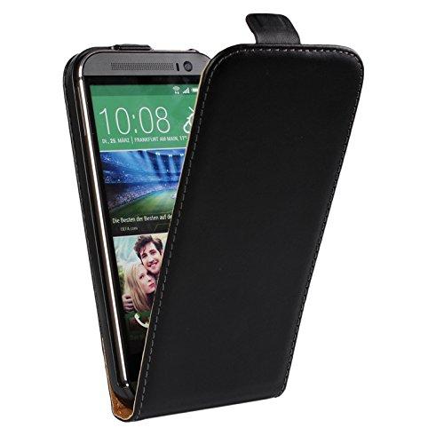 EximMobile Flipcase Handytasche Etui Tasche für HTC Desire 320 Schwarz