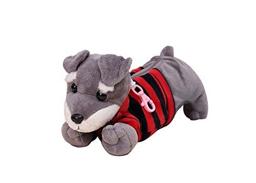 Preisvergleich Produktbild dorapocket Kinder Creative Plüsch Spielzeug Puppy Bleistift Schutzhülle Student Dog Pen Tasche Stationery Box One Size rot