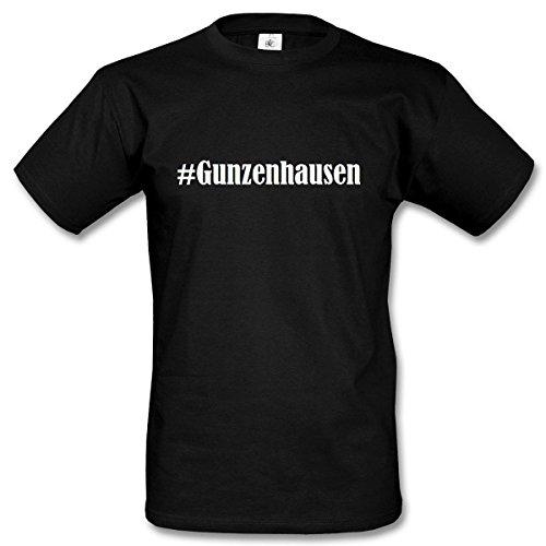 ... Farben Schwarz und Weiss Schwarz. T-Shirt #Gunzenhausen Hashtag Raute  für Damen Herren und Kinder ... in