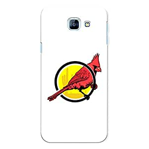 CrazyInk Premium 3D Back Cover for Samsung A8 2016 - Red Parrot Ring
