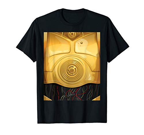 Star Wars C-3PO Halloween Costume  T-Shirt (Halloween Girls Golden Costume)