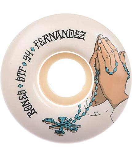 Bones Wheels Skateboard Wheels STF Fernandez Prayer 83B V1 54mm Wheels (Bones Stf 54mm)