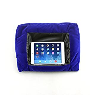 WYZ iPad Pillow und Halterung Kissen für iPads Haltekissen für iPad und andere Tabletgeräte, Schwarz Für Zuhause, das Bett oder den Schreibtisch Verhindert Verletzungen durch wiederholte Beanspruchung und Schulterschmerzen Beanbag-Füllmaterial (blau)