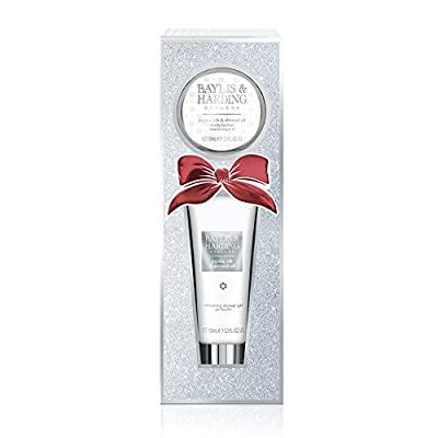 Baylis & Harding Stocking Filler Bathing Essentials Set, Jojoba, Silk and Almond Oil