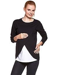 Be! Mama - 2in1 Stillpullover, Sweatshirt, Umstandspulli, Umstandsshirt, Stillshirt, Modell: LAVIS