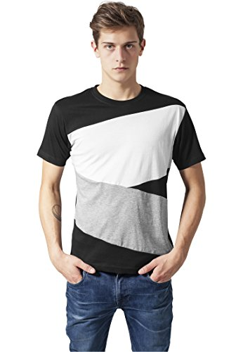 Image of Urban Classics Zig Zag Tee Shirts Streetwear Men, blk/gry/wh, XXL