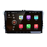 hizpo 9 Inch Android 9.0 Car Stereo Support Radio Video Player GPS Can-Bus Mirrorlink Bluetooth OBD2 Multi Touch Screen Reverse Camera for Volkswagen VW Golf Polo Passat Tiguan Jetta