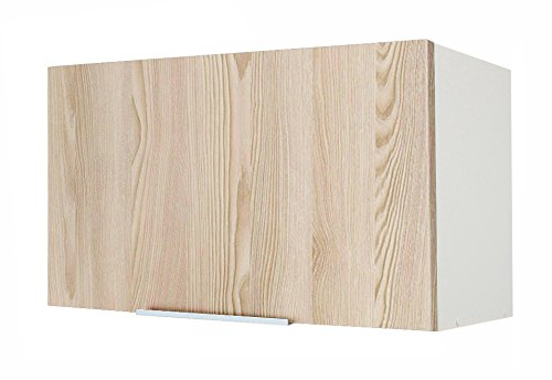 Berlioz Creations Caisson Haut de cuisine Sur Hotte 60, Panneaux de Particules, Frêne Sablé, 60 x 34 x 35 cm