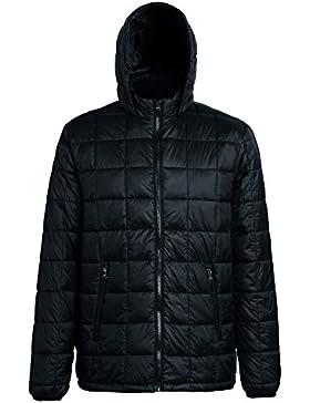 2786 - Chaqueta acolchada con cremallera y capucha para hombre