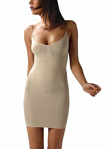 Control Body by Intimidea. Statuetta form fine mieder vestito, Made in Italy Beige/Skin S/M
