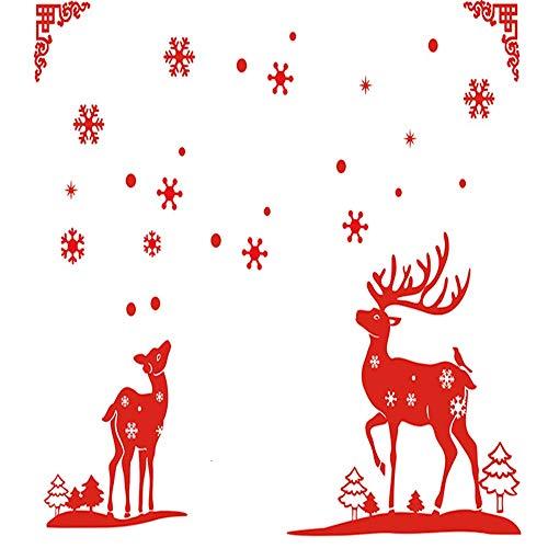 Wagsiyi Schneeflocke Glasaufkleber Multicolor Printed Indoor Weihnachten Wandaufkleber Dekoration Aufkleber Für Weihnachtsdekoration (Größe : S)