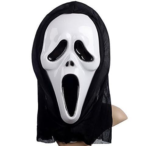 YAZILIND Horror Sensenmann Maske Schreiende Grimasse Halloween Party Kostüm Masquerade Luminous (22 Halloween Kostüme)