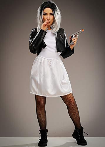 Chucky Von Braut Puppe Kostüm - Magic Box Int. Die Braut der Frauen des Chucky Art-Mörder-Puppen-Kostüms Medium (UK 10-12)