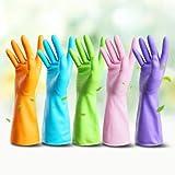 5x ANEWSIR Waschhandschuhe, Haushalts Latex Handschuhe Waterproof Rubber - Best Reviews Guide