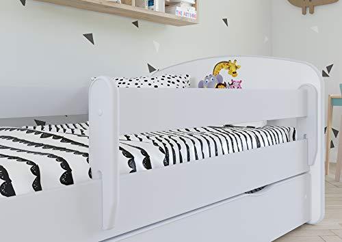 Kocot Kids Kinderbett Jugendbett 70×140 80×160 80×180 Weiß mit Rausfallschutz Matratze Schubalde und Lattenrost Kinderbetten für Mädchen und Junge – Fee mit Schmetterlingen 180 cm - 4