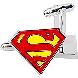 NuoYa005 Superman Cufflinks for Mens Shirt High-end French Cuff links Wedding Groom Gift