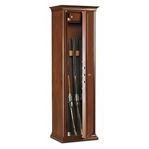 Armoire à fusils à clé en bois teinté noyer 7 fusils