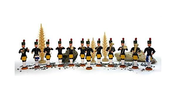 5 teilig Miniatur Bergaufzug um 1850 Bergmannskapelle Höhe ca  5,5 cm NEU Wei
