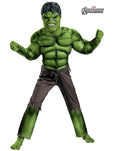 Disguise Avengers Hulk Classic Muscle Costume Green/brown Picture