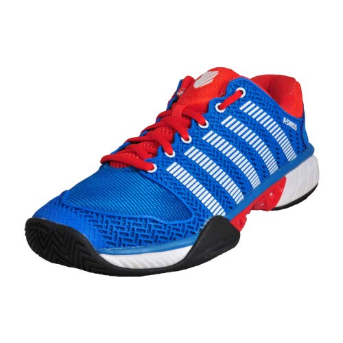 K-Swiss Hypercourt express - Zapatillas Tenis/Padel (Methly blue/Fiery red) - 39 (1/2)