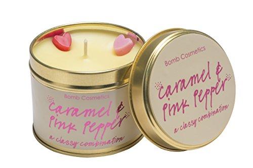 el und rosa Pfeffer Duftkerze mit Brenndauer 30-35Stunden, Dose, beige, 7X 7X 7cm ()