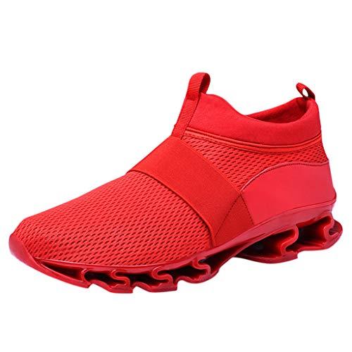 Lilicat Scarpe da Ginnastica Uomo Scarpe da Corsa Scarpe per Correre Running Sportive Ginnastica Sneakers Scarpe da Casual Basse Traspirante Fitness Training Trekking (Rosso,40 EU)