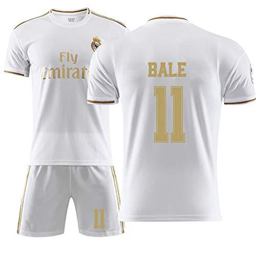 SKLLA Real Madrid Football Club 11# Bale Fußballtrikot, Fußballjungen-T-Shirt Herren-Sweatshirt Kindergeschenke,18~(100~100cm) -