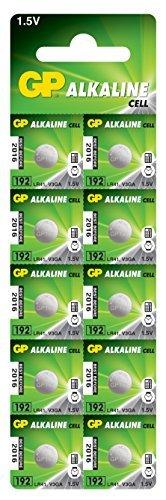 Lot de 10 Piles Boutons alcalines GP192-C10