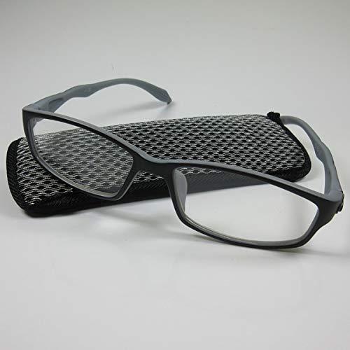 KOST Schicke sportliche Lesebrille +2,5 schwarz/grau Etui Lesehilfe Fertigbrille