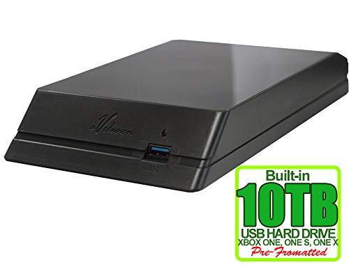 Avolusion HDDGear Externe Xbox-Gaming-Festplatte, 10 TB (10.000 GB, USB 3.0) für Xbox ONE, Xbox ONE S, Xbox ONE X, 2 Jahre Garantie