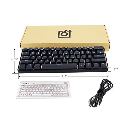 Manyo GK61 61 61 Tastatur, beleuchtete LED-Tastatur, kabelgebunden, USB, Axis, mechanische Tastatur für das Büro LC -