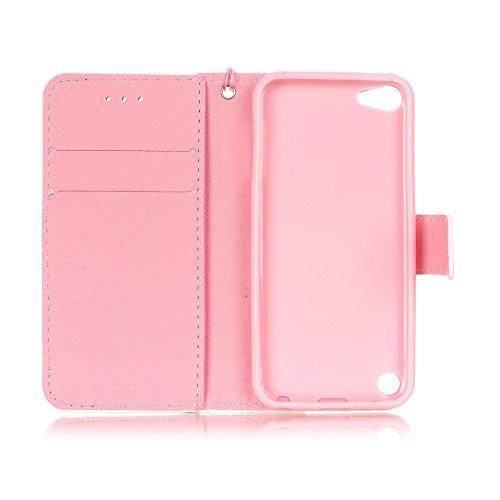 Toyym, Custodia a portafoglio, in similpelle, compatibile con Apple iPhone SE/5S/5, motivo colorato in 3D, con chiusura magnetica, con tasche per carte di credito, con tappino anti-polvere a forma di  Bear