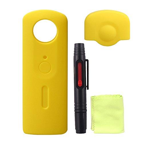holaca 360Kit de funda con lápiz limpiador de cámara, carcasa de silicona para Ricoh Theta S 360Cámara solo