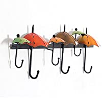 ZEMIN Wall Coat Rack Clothes Hat Hanger Holder Umbrella Home Style Solid Wood Creative 1/2/3 Pieces, 66x9x23CM (Color : 3 pieces)