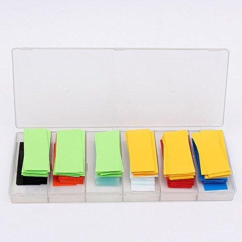 29,5 mm 280pcs Klebstein Kombination flach PVC Schrumpfschlauch Akku Schutz Sleeve für 18650 Akku 8 Farben (18.5 Sleeve)