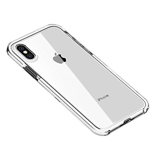ee5080e7f01 Seabaras iPhone X Coque Anti Knock Bumper Résistant aux Rayures Coque pour iPhone  X Coque en
