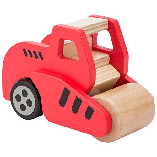 (Ultrakidz Holzfahrzeuge / Baustellenfahrzeuge aus Holz, abgerundetes und griffiges Holz-Kinderspielzeug für 2–5-jährige Kinder, Spielautos aus Naturholz – Spielzeugauto: Straßenwalze aus Holz)