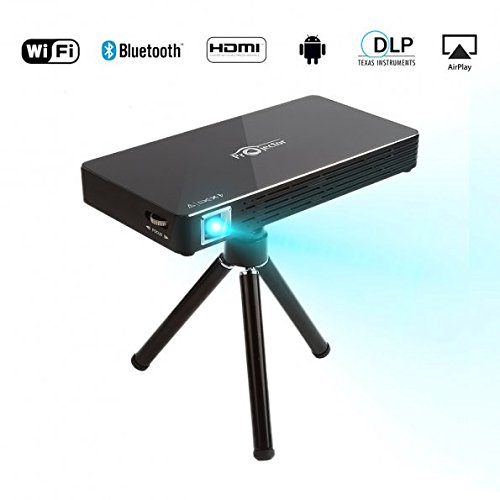 LeaningTech X Toumei C800S Mini DLP Bluetooth WIFI Drahtlos LED Video Projektor Beamer, tragbar Multimedia Heimkino, unterstützt 1080P HDMI USB TF Karte für PC Laptop iPhone Android - Halloween Full Movie 1