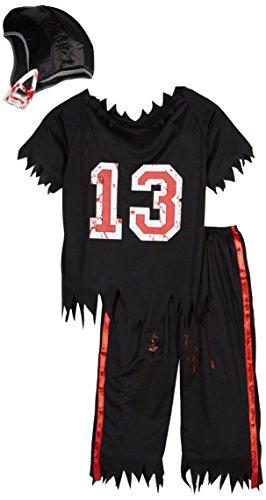 Smiffys, Herren Zombie American Footballer Kostüm, Oberteil, Hose und Helm, Größe: L, (Zombie Dressing Wie Ein)