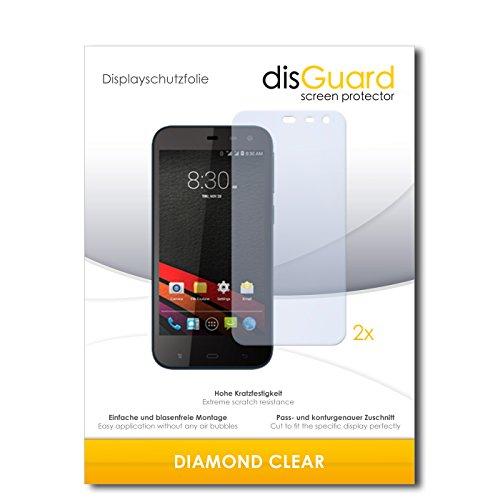 2 x disGuard® Bildschirmschutzfolie Phicomm Clue M Schutzfolie Folie