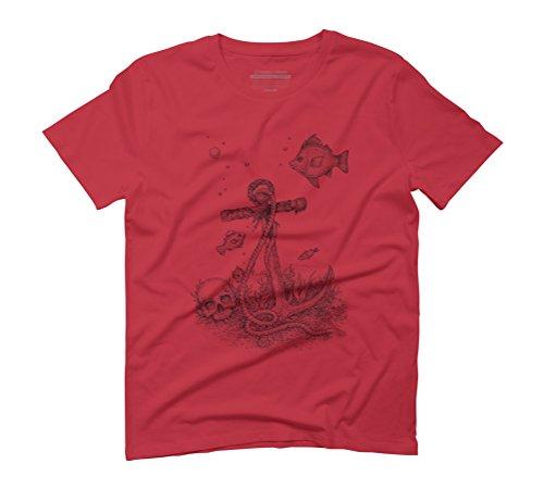 Underwater Fantasy Men's Graphic T-Shirt - Design By Humans Red