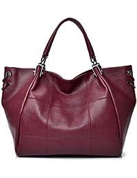 f1f8c621570d4 Kris Anna Damen Ring Plaid Bestickt PU Leder Shopper Tote Handtasche EINWEG