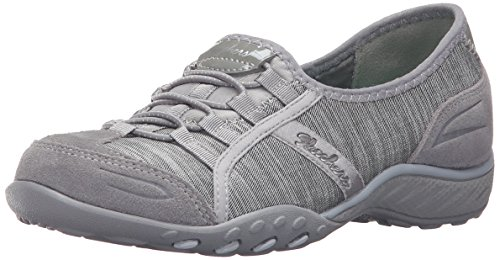 Skechers Breathe-Easy Good Life, Baskets Basses Femme Grey/Black