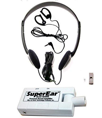Amplificatore SuperEar Personal Sound modello SE5000 Aumenta suono ambientale guadagno 50dB, sistema completo CMS/ADA compiacente Assistente Living Dispositivo
