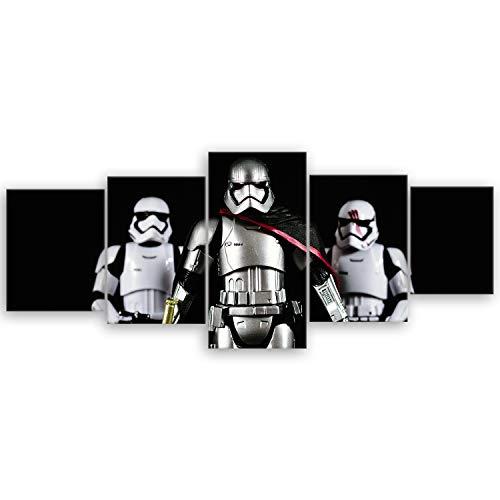 ge Bildet® hochwertiges Leinwandbild XXL - Stormtrooper VI - 200 x 80 cm mehrteilig (5 teilig)
