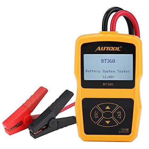Auto Batterietester, 12V BT-360 Kfz-Ladebatteriesystem Tester Digital Analyzer Zelltest Tool Mehrsprachig