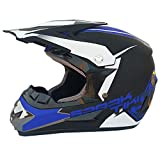 Adult Motocross Helm MX Motorradhelm ATV Scooter ATV Helm D. O. T Zertifiziert Rockstar Multicolor Mit Brillen Handschuhe Maske (S, M, L, XL),B,XL
